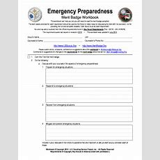Boy Scout Merit Badge Emergency Preparedness Worksheet  Fill Online, Printable, Fillable, Blank