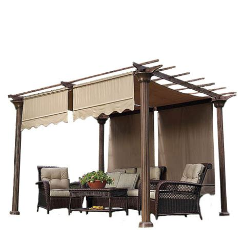 Sears Patio Cushion Covers by Universal Designer Replacement Pergola Shade Canopy Ii