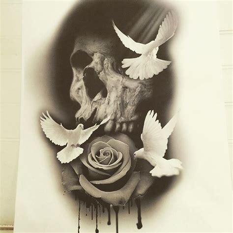 pin  billy bangbang  skull art pinterest watercolor design tattoo  tatting