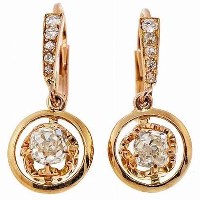 Earrings Gold Rose Dangle Diamond Victorian 1stdibs