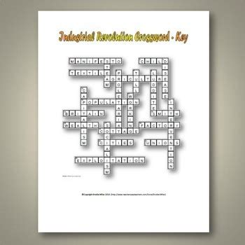 industrial revolution crossword puzzle  key  terms
