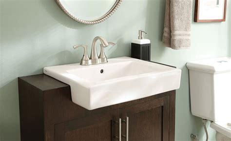 Gerber Semi-recessed Lavatory Sink |-| Plumbing