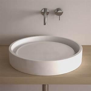 Vasque Ronde A Poser 30 Cm : pack vasque poser ronde asako 50 cm miroir led ~ Premium-room.com Idées de Décoration