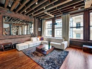 The, Industrial, Look, In, A, Lovely, Apartment, In, Soho, New