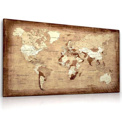 weltkarte auf leinwand weltkarte leinwand bild auf keilrahmen landkarte kunstdruck bild ebay