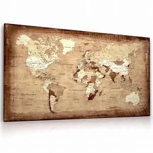 Kunstdruck Auf Leinwand : weltkarte leinwand bild auf keilrahmen landkarte kunstdruck bild ebay ~ Eleganceandgraceweddings.com Haus und Dekorationen