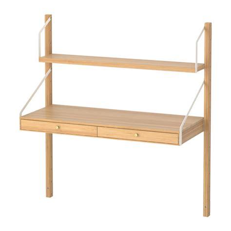 bureau en bambou svalnäs biurko montowane do ściany ikea