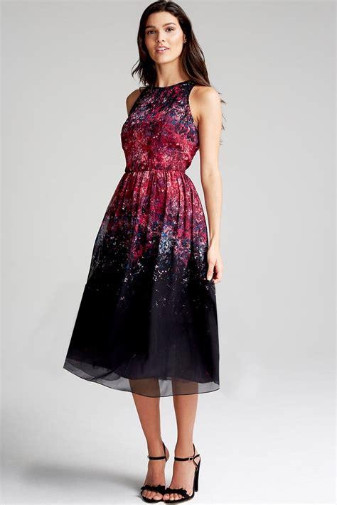 print floral midi dress   mistress uk