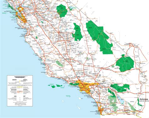 map  southern california