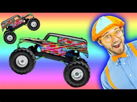 Blippi Boat Song Youtube by Monster Truck Song Educational Videos For Preschooler