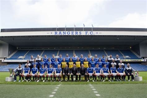 Soccer Rangers Team Photograph Ibrox Stadium (#5538508 ...