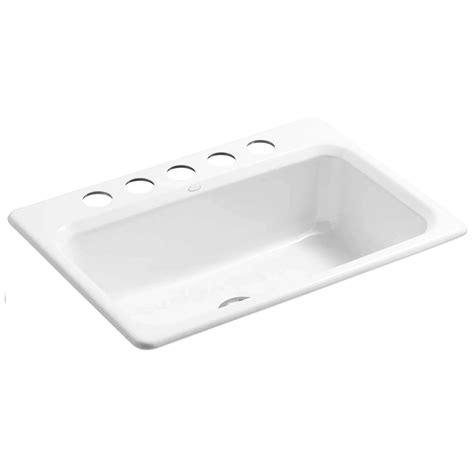 cast iron kitchen sink manufacturers kohler bakersfield 5832 5u cast iron sink kitchen sinks 8064