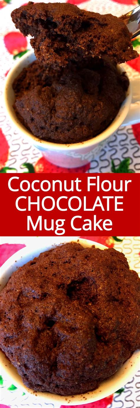 Coconut Flour Chocolate Mug Cake Recipe (Gluten-Free