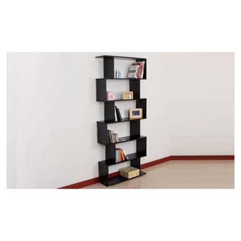 S Shaped Bookcase by Buy Six Shelf S Shaped Bookcase Black Price