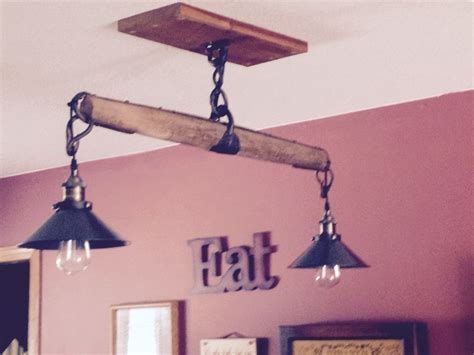 Tree Light Fixture by We Took A Single Tree From A Harness Added The