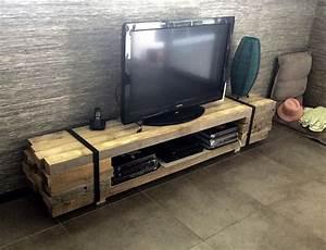 les 25 meilleures idees de la categorie meuble tv palette With fabriquer un meuble tv en palette