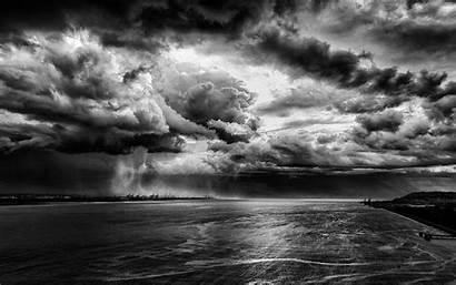 Clouds Storm Rain Water Nature Landscape River