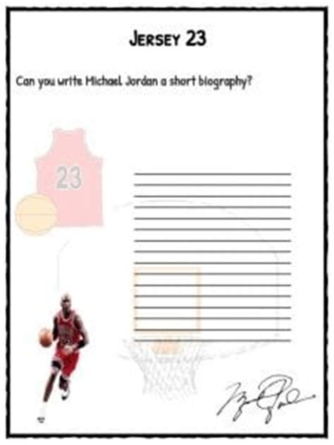michael jordan facts biography information worksheets