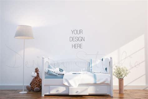 interior psd nursery room photo product mockups