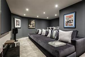 Sparkling dark gray decorating ideas home theater for Kitchen colors with white cabinets with movie theater wall art