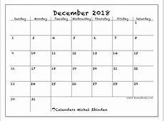 Calendar December 2018 77SS Michel Zbinden en