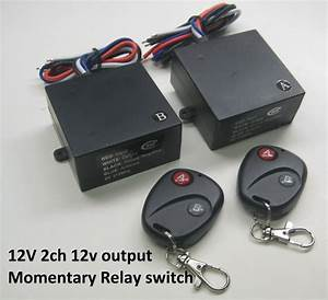 12v Momentary 2 Channels 12vout Dc Contact Relay Remote