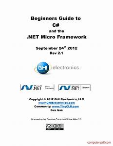 Pdf  Beginners Guide To C  And The  Net Free Tutorial For