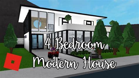 Welcome To Bloxburg 4 Bedroom Modern House  Speed Build