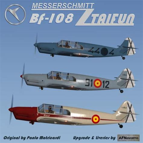 Spanish Liveries & addons for Paolo's Bf-108 - Aircraft Skins - Liveries - X-Plane.Org Forum