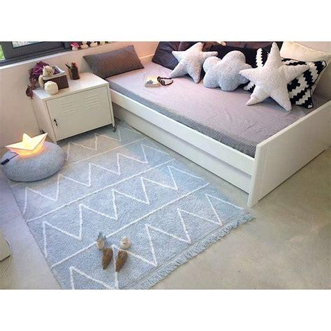 tapis chambre tapis lavable hippy bleu avec franges chambre bébé garçon
