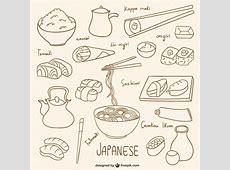 Colección de dibujos de comida japonesa Descargar