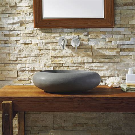 athena natural stone vessel sink vst  bas bathroom