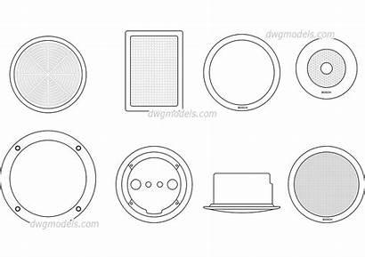 Cad Ceiling Plan Symbols Speakers Blocks Drawings