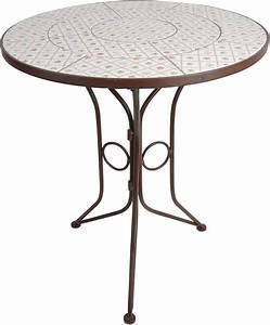 Table Ronde Exterieure : petite table ronde en c ramique et m tal botanicae ~ Teatrodelosmanantiales.com Idées de Décoration