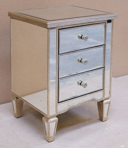 antique style venetian mirrored  drawer bedside table