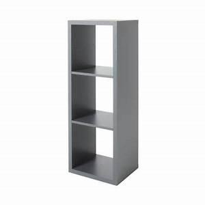 Etagere Cube Noir : tag re modulable 3 cases coloris gris mixxit castorama ~ Teatrodelosmanantiales.com Idées de Décoration