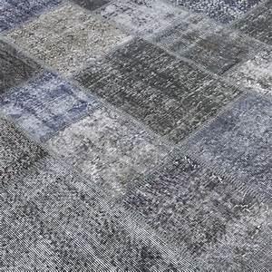 Grau Blau Farbe : grau blau vintage patchwork flicken teppich 203x300cm ~ Markanthonyermac.com Haus und Dekorationen