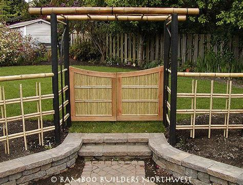bamboo fencing ideas wonderful simple japanese garden