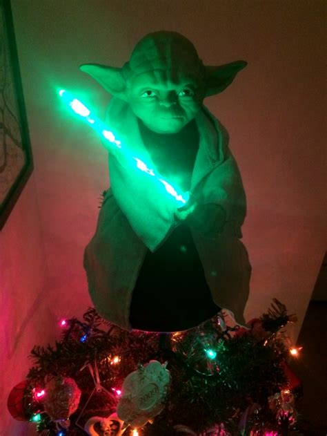 you need this light up star wars yoda tree topper