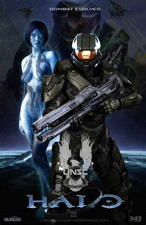 Halo Fan Art Triptych Featuring Master Chief Cortana