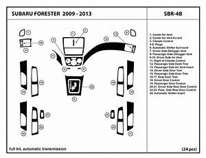 Dash Kit Trim For Subaru Forester With Automatic Transmission Wood Carbon Sbr