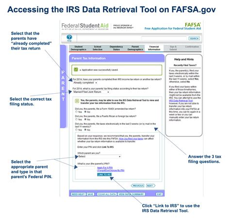 simple steps    irs data retrieval tool