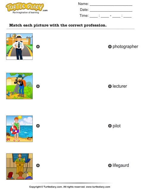 Match The Name With Pictures Worksheet  Turtle Diary