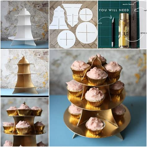 easy diy cardboard cupcake stand  template guide