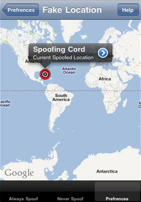 your iphone location data with location spoofer the