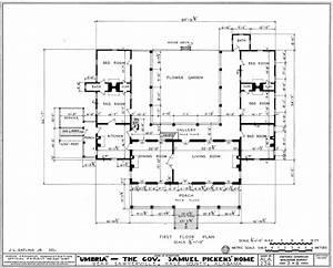 File:Umbria Plantation - Architectural plan of main floor