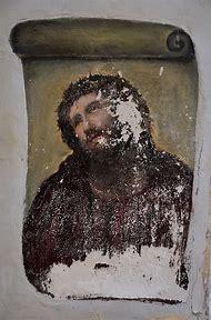 Jesus Christ Painting Ruined
