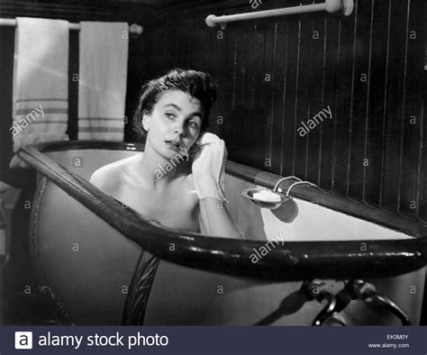 jean simmons the actress 1953 jean simmons on set of the film quot the actress quot 1953 stock