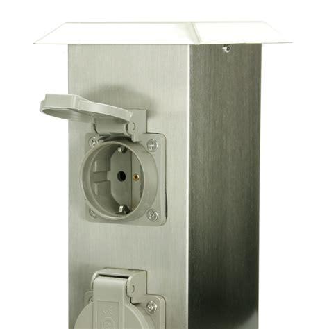 bloc avec 4 prises de courant borne electrique exterieur jardin ip44 stand etang ebay