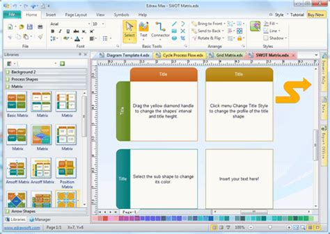 Business Matrix Template And Software